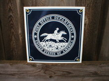 POST OFFICE PORCELAIN-COATED SHIELD SIGN C