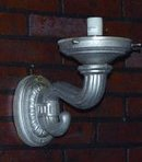 GAS PUMP GLOBE WALL SCONCE HEAVY CAST ALUMINUM
