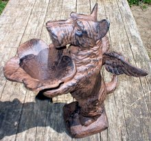 RUSTIC SCOTTIE BUTLER CAST IRON