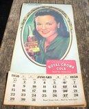 ROYAL CROWN COLA 1950 CALENDAR R
