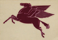 MOBIL PEGASUS VINYL DECAL GAS PUMP ADV AD DECOR M