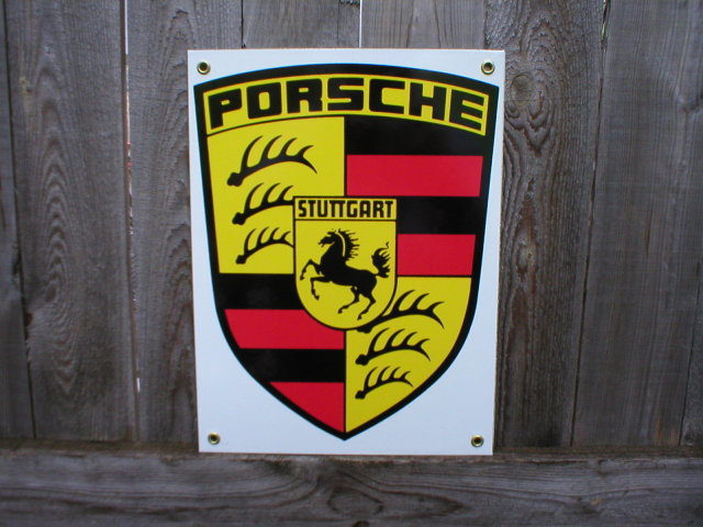 PORSCHE PORCELAIN COATED SIGN Home Cabin Decor