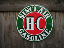 SINCLAIR HC PORCELAIN-COATED SIGN