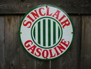 SINCLAIR STRIPES PORCELAIN COATED SIGN
