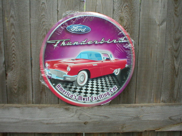 THUNDERBIRD TIN SIGN METAL RETRO ADV SIGNS T