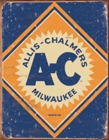 ALLIS CHALMERS LOGO TIN SIGN