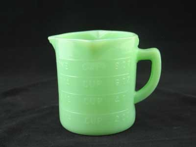 JADE JADITE JADEITE GLASS MEASURING CUP J