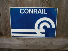 CONRAIL PORCELAIN-COATED RAILROAD SIGN