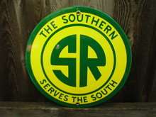SOUTHERN RAILROAD PORCELAIN COATED SIGN
