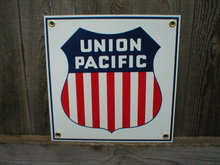 UNION PACIFIC PORCELAIN-COATED RAILROAD SIGN S