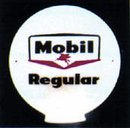 MOBIL REGULAR GAS PUMP GLOBE SIGN ADV GLOBES SIGNS M