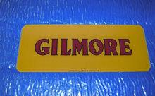 GILMORE AD GLASS GAS PUMP LOGO