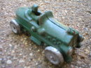 SMALL CAST IRON GREEN RACE CAR R