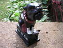 CAST IRON BLACK BULLDOG MECHANICAL BANK B