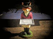 FOX BUSINESS CARD HOLDER CAST IRON
