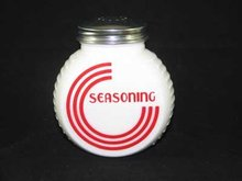 WHITE MILK GLASS ART DECO RANGE SEASONING