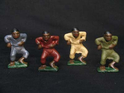 BLACK AMERICANA 4-PIECE CAST IRON DANCING BOYS SET