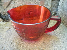 AMBER GLASS 2 CUP MEASURING CUP KITCHEN DECOR