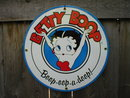BETTY BOOP PORCELAIN COAT SIGN METAL ADV SIGNS M