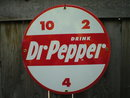DR PEPPER PORCELAIN COAT RETRO SIGN