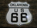 OKLAHOMA US 66 PORCELAIN-COATED SHIELD SIGN O