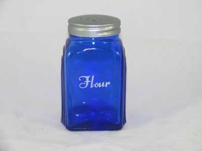 ONE COBALT BLUE ARCH FLOUR SHAKER A