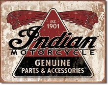 INDIAN MOTORCYCLE PARTS 1901 TIN SIGN
