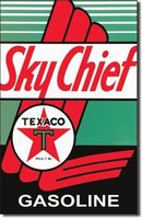 TEXACO SKYCHIEF TIN SIGN METAL GAS OIL SIGNS T