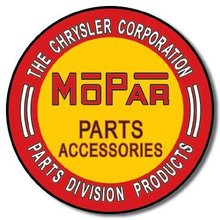 MOPAR PARTS ROUND TIN SIGN METAL ADV RETRO SIGNS M