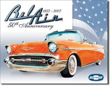 CHEVROLET BEL AIR TIN SIGN METAL ADV RETRO SIGNS M