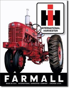 RED FARMALL 400 TRACTOR SIGN INTERNATIONAL FARM SIGNS I
