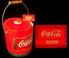 COKE COCA-COLA INSULATED METAL ICE BUCKET C