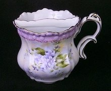 PORCELAIN VIOLET SHAVING MUG COLLECTOR GLASS L