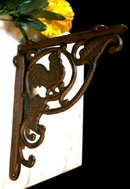CAST IRON ROOSTER SHELF BRACKETS IRONWARE DECOR R