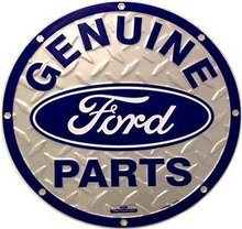 GENUINE FORD PARTS TIN SIGN RETRO METAL ADV SIGNS C