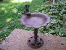 CAST IRON MERMAID BIRD FEEDER HOME GARDEN DECOR M