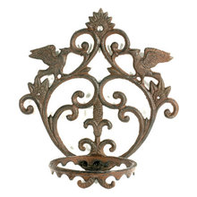 CAST IRON ORNATE FLOWER POT HOLDER F
