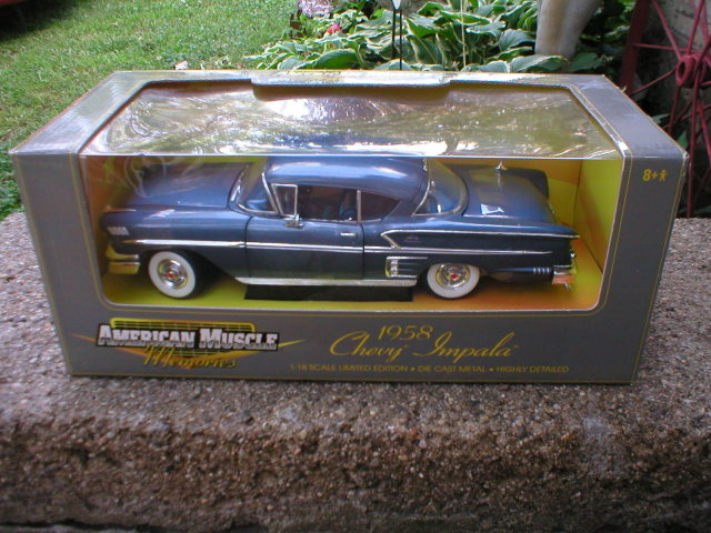 1958 AMERICAN MUSCLE 1:18 GREEN CHEVROLET IMPALA