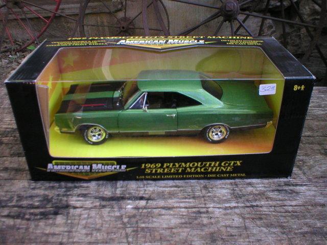 1969 GREEN DIECAST PLYMOUTH GTX STREET MACHINE