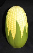 PORCELAIN CORN KING SUGAR SHAKER MARKED SHAWNEE