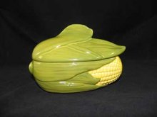 CORN KING TWO PIECE CASSEROLE DISH MARKED SHAWNEE