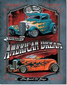 LEGENDS AMERICAN DREAM TIN ADV RETRO SIGN