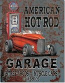 LEGENDS AMERICAN HOT ROD GARAGE TIN ADV RETRO SIGN