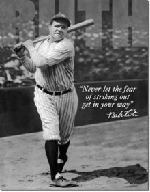 BABE RUTH TIN SIGN RETRO METAL SIGNS