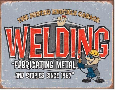 WELDING FABRICATING TIN SIGN RETRO METAL ADV SIGNS I