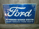 FORD AUTHORIZED SERVICE TIN SIGN
