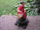 CAST IRON FLIPPING CLOWN MECHANICAL BANK C