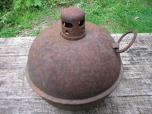 OLD ANTIQUE STREET FLARE LANTERN L