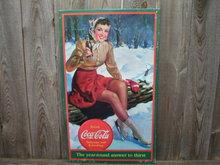 DRINK COCA-COLA TIN SIGN METAL RETRO ADV SIGNS C