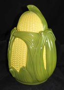 CORN KING COOKIE JAR PORCELAIN MARKED SHAWNEE